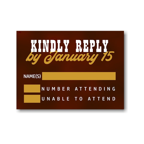 Boldly Stated Response Card