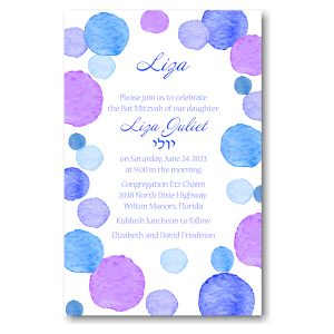 Dotted Frolic Bat Mitzvah Invitation Icon