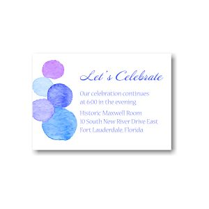 Dotted Frolic Reception Card
