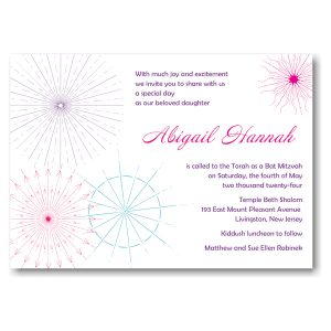 Starburst Medley Bat Mitzvah Invitation Icon