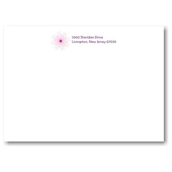 Starburst Medley Envelope flap