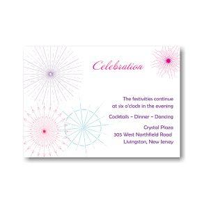 Starburst Medley Reception Card