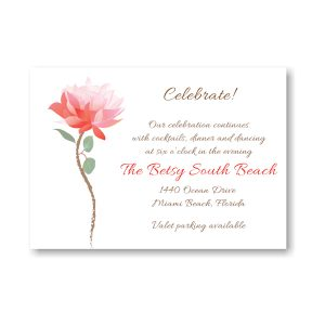Delicate Blossom Reception Card
