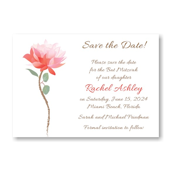 Delicate Blossom Save the Date Card Sample