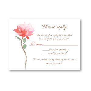 Delicate Blossom Response Card