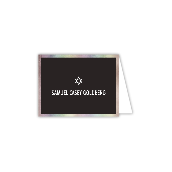 Bold Foil Border Folded Note Card