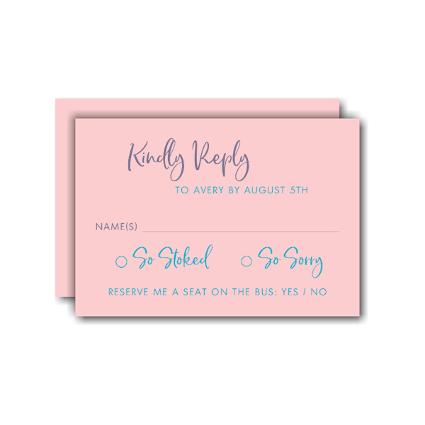 Center of Attention RSVP Card
