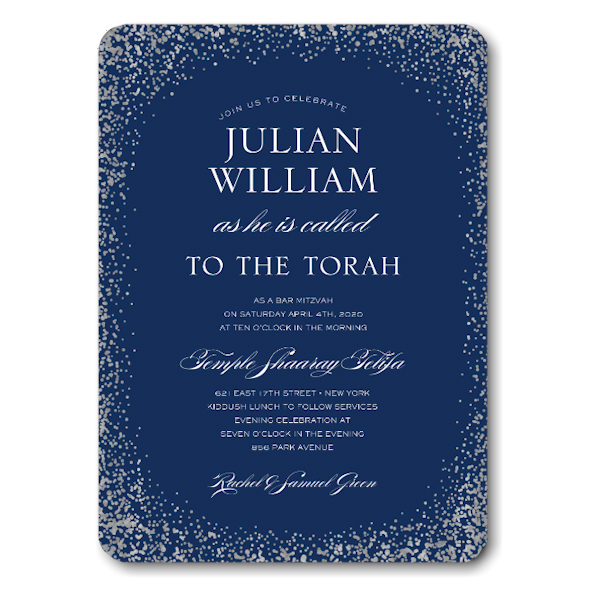Confetti Bar Mitzvah Invitation