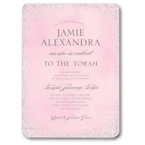 Confetti Pink Bat Mitzvah Invitation Icon