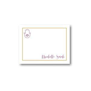 Hamsa Foil Border Note Card