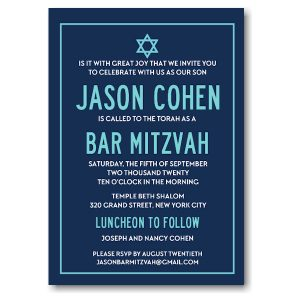 Modern Bar Mitzvah Invitation Icon
