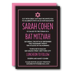 Modern Bat Mitzvah Invitation Icon