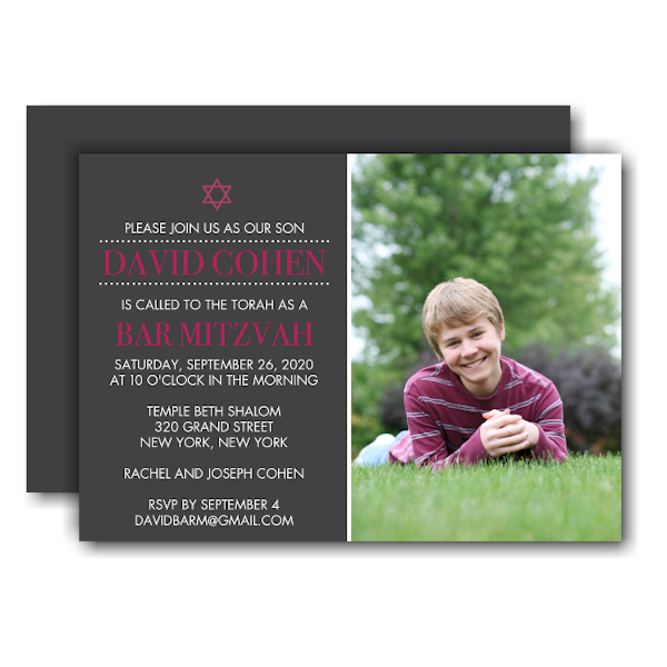 Photo Bar Mitzvah Invitation Icon