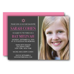 Photo Bat Mitzvah Invitation Icon