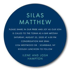 Simple Celebration Bar Mitzvah Invitation Icon