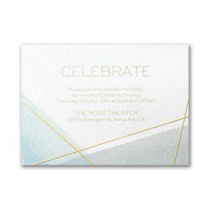 Aquarelle Honor Bar Mitzvah Reception Card