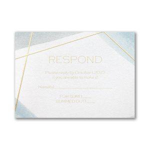 Aquarelle Honor Bar Mitzvah Response Card