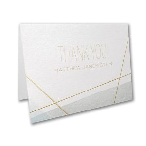 Aquarelle Honor Bar Mitzvah Thank You Note