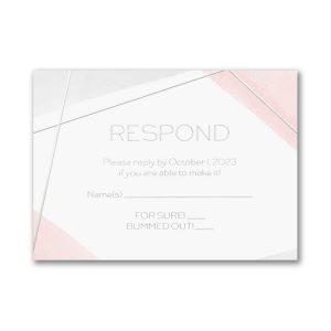 Aquarelle Honor Bat Mitzvah Response Card