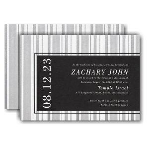 Faded Lines Bar Mitzvah Invitation Icon