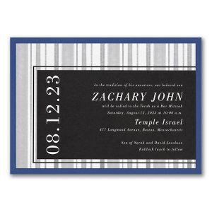 Faded Lines Layered Bar Mitzvah Invitation Icon