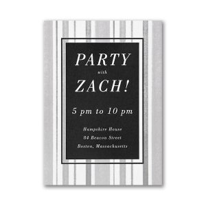 Faded Lines Layered Reception Card