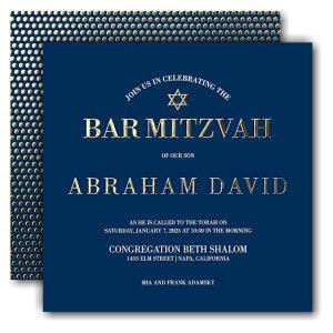 Fresh Edict Bar Mitzvah Invitation