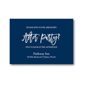 Fresh Edict Bar Mitzvah Reception Card