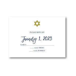 Fresh Edict Bar Mitzvah Response Card