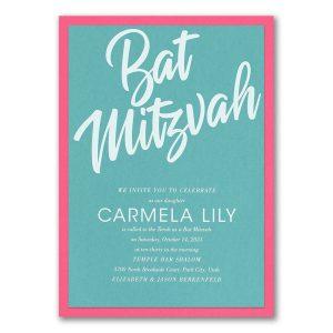 Grand Gathering Layered Bat Mitzvah Invitation Icon
