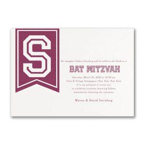 Initial Banner Bat Mitzvah Invitation Icon