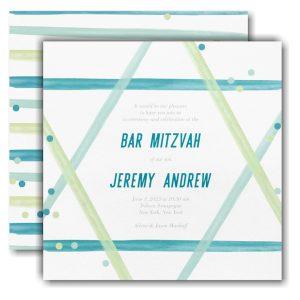 Magen David Bar Mitzvah Invitation Icon
