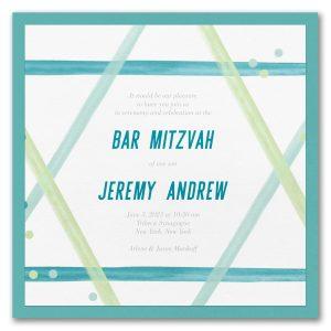 Magen David Layered Bar Mitzvah Invitation Icon