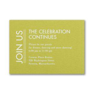 Modish Mitzvah Reception Card
