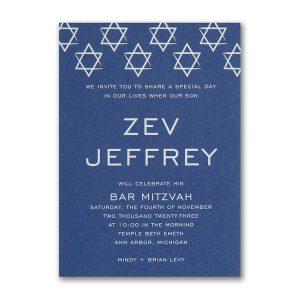 Shields of David Bar Mitzvah Invitation Icon
