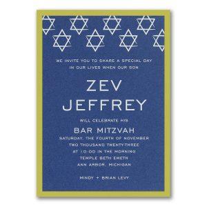 Shields of David Layered Bar Mitzvah Invitation Icon