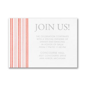 Side Patterned Reception Card