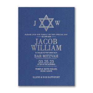 Solid Tradition Bar Mitzvah Invitation Icon