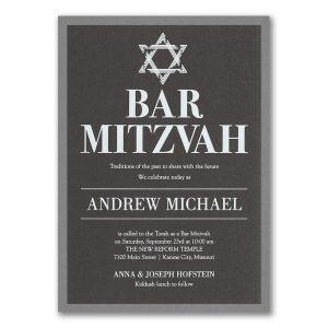 Stately Shield Layered Bar Mitzvah Invitation Icon