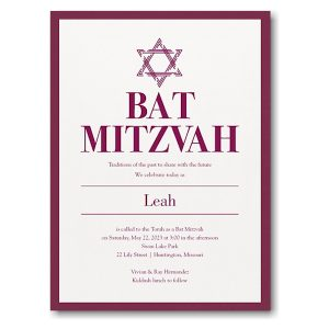 Stately Shield Layered Bat Mitzvah Invitation Icon