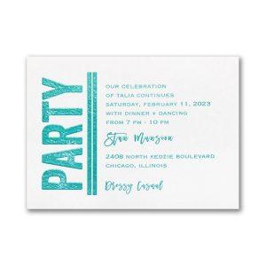 Textured Mitzvah Bat Mitzvah Reception Card
