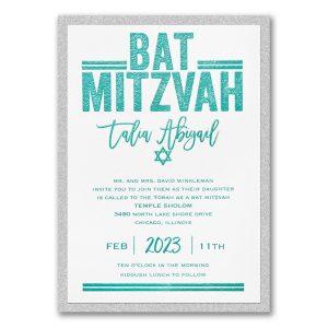 Textured Mitzvah Layered Bat Mitzvah Invitation