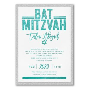 Textured Mitzvah Layered Bat Mitzvah Invitation Icon