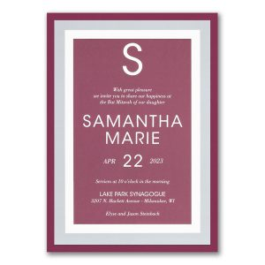 Vivid Border Layered Bat Mitzvah Invitation Icon