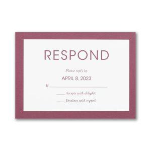 Vivid Border Layered Response Card