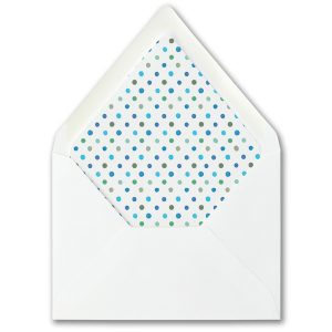 Watercolor Expressions in Blue Layered Envelope Liner
