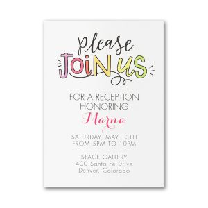 Watercolor Expressions in Pink Layered Reception Card