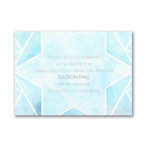Watercolor Star of David Reception Card