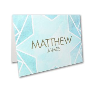 Watercolor Star of David Thank You Note
