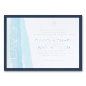 Stellar Brushstroke Layered Bar Mitzvah Invitation Icon